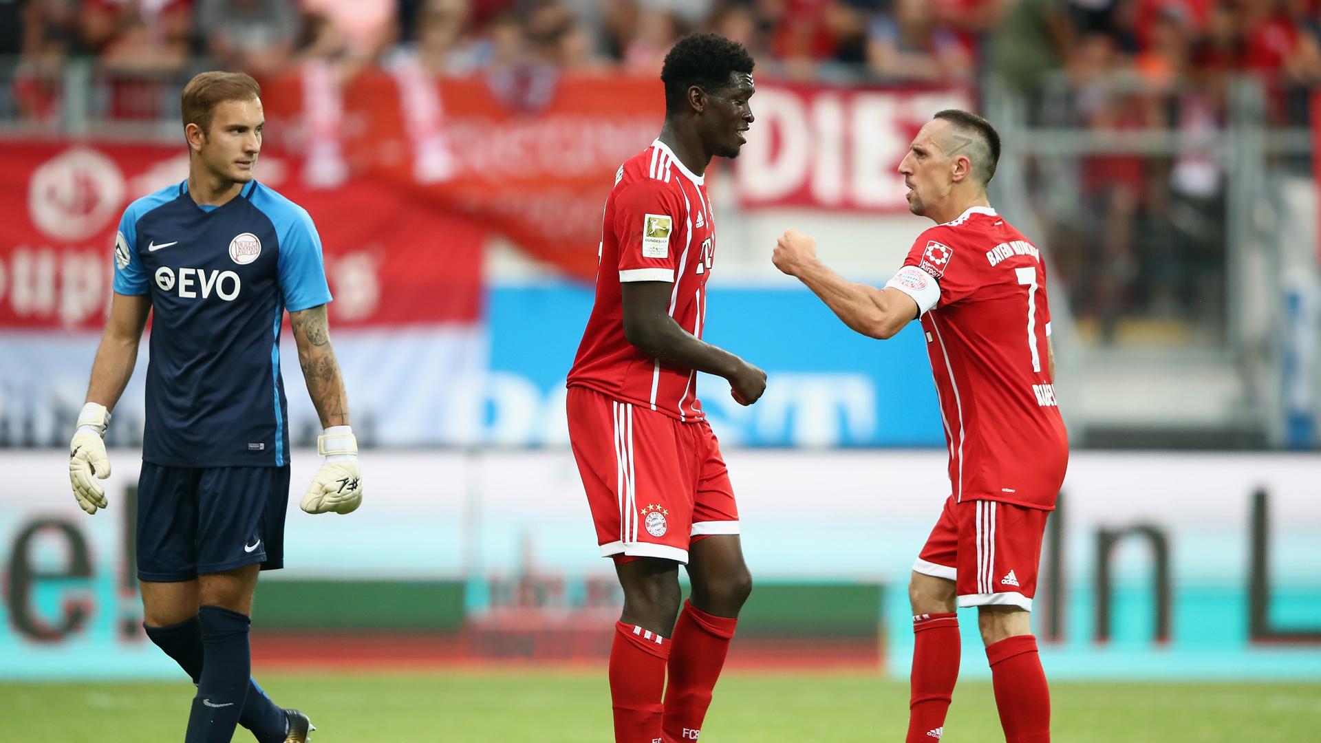 Kwasi Wriedt Franck Ribery FC Bayern München Offenbach Friendly 30092017