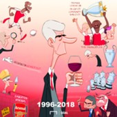Cartoon - 22 Years Wenger & Arsenal
