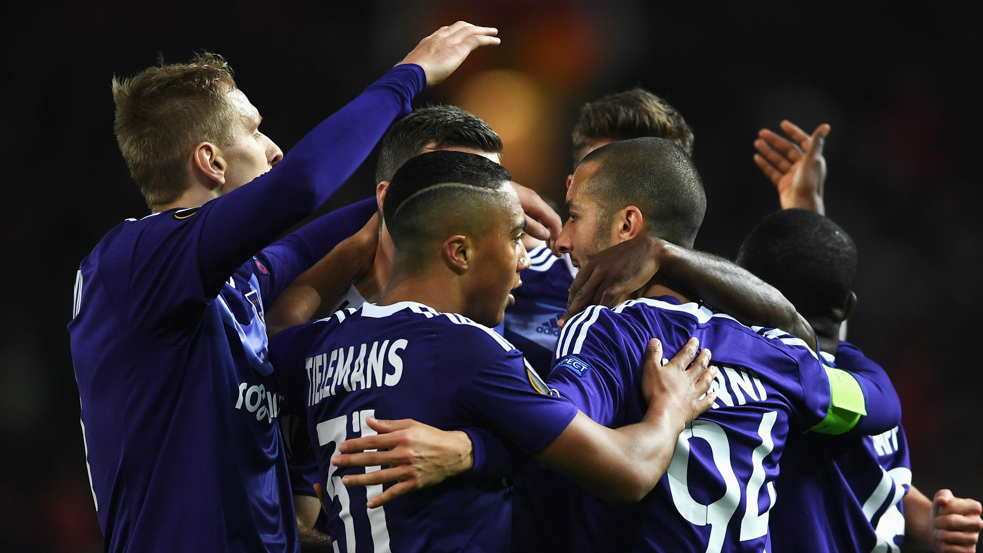 Anderlecht celebrate