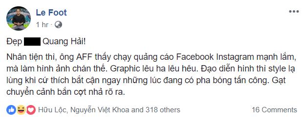 Phản ứng đạo diễn hình trận Lào - Việt Nam 2