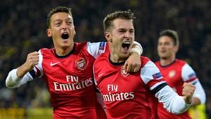 Mesut Ozil Aaron Ramsey Arsenal