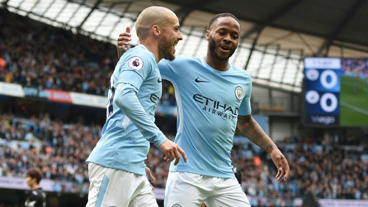 David Silva Raheem Sterling Manchester City