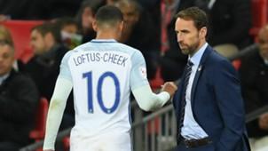 Ruben Loftus-Cheek, Gareth Southgate, England v Brazil