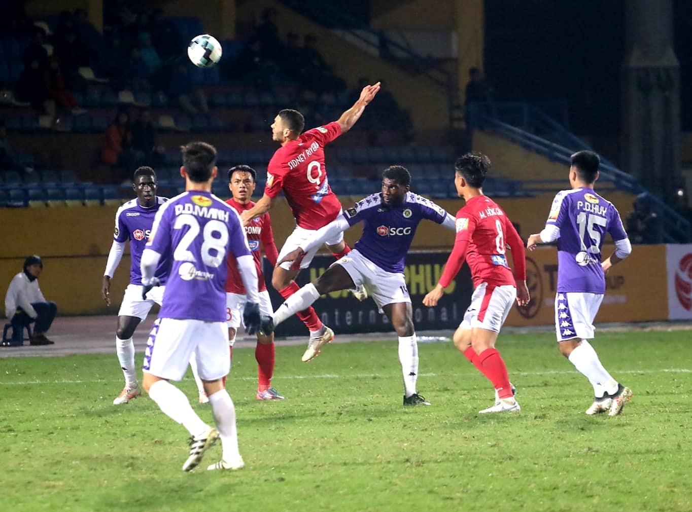 Sidney Rivera Ha Noi vs Than Quang Ninh V.League 2019