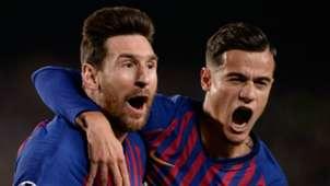 Lionel Messi Philippe Coutinho Barcelona 2018-19