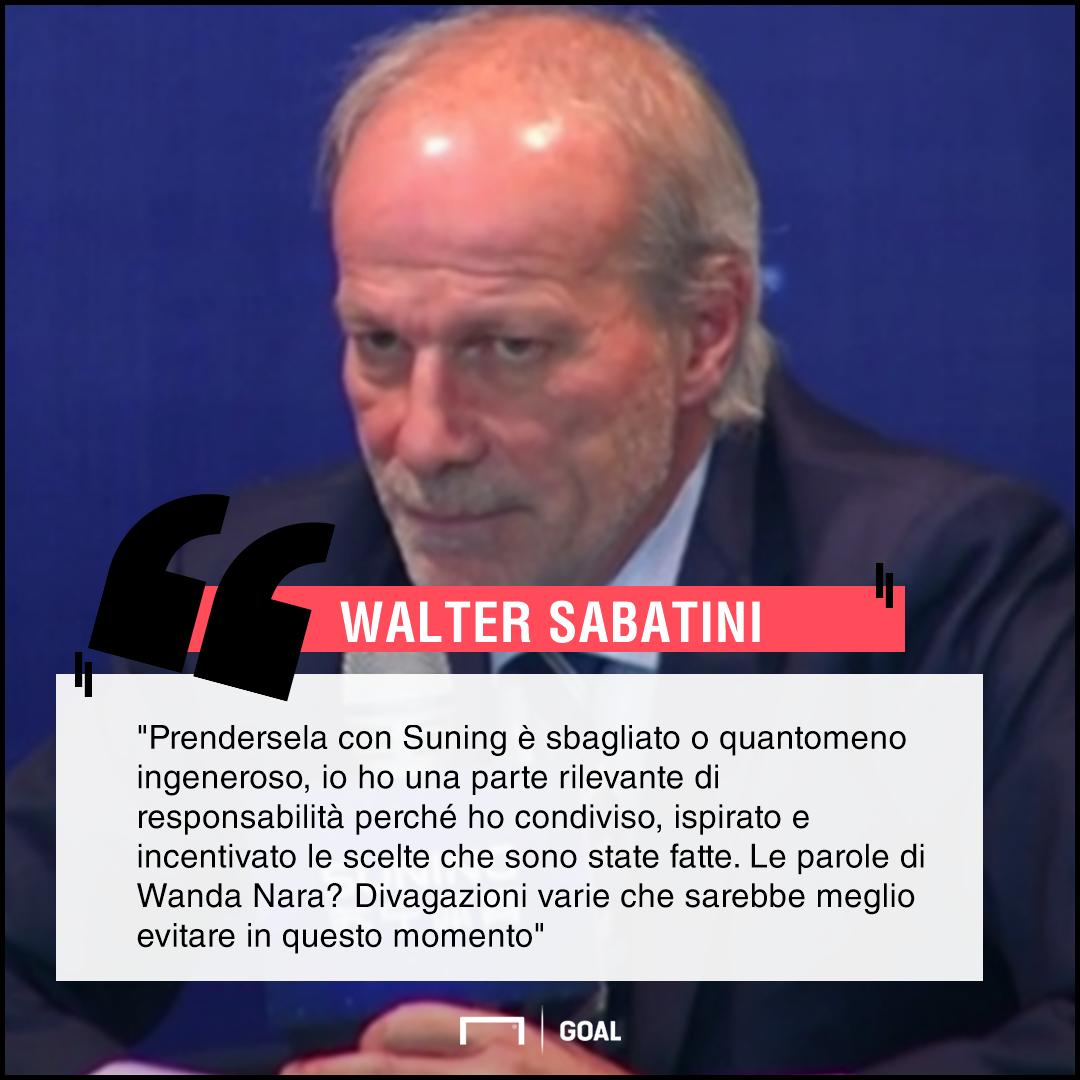 L'Inter delude, Sabatini chiarisce: