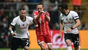 Ricardo Quaresma Franck Ribery Gokhan Gonul Besiktas Bayern Munich UCL 03142018