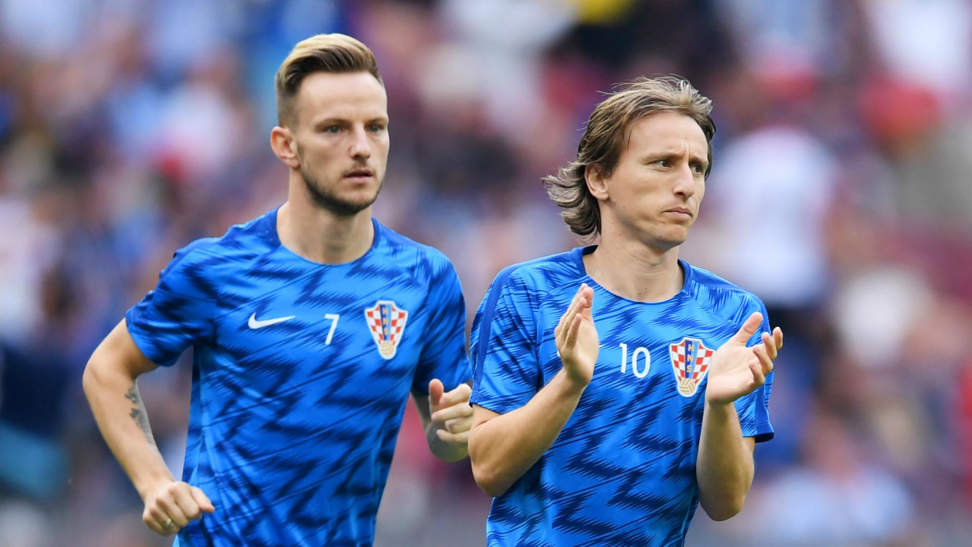 Ivan Rakitic Luka Modric Croatia 2018