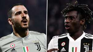 Leonardo Bonucci Moise Kean Juventus