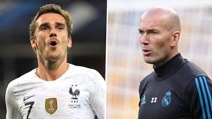 Antoine Griezmann Zinedine Zidane 2018