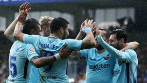 Barcelona celebrate vs Eibar