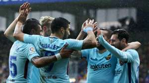 Barcelona celebrate vs Eibar