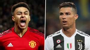 Jesse Lingard Cristiano Ronaldo Man Utd Juventus
