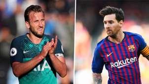Harry Kane, Lionel Messi