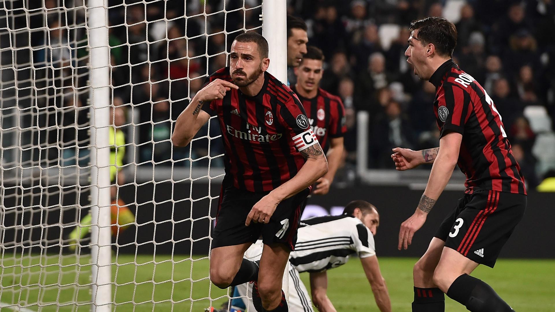 Bonucci Romagnoli Juventus Milan