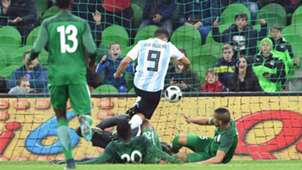 Sergio Aguero Argentina Nigeria friendly 14112017