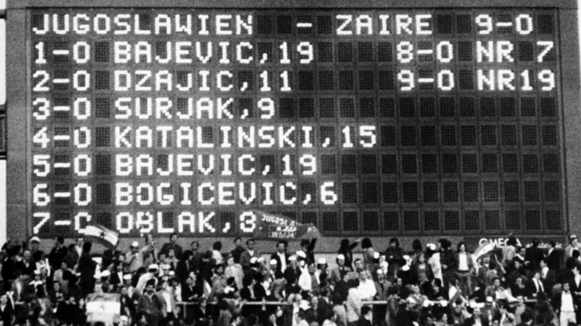 yugoslavia zaire copa del mundo 1974