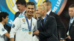 Cristiano Ronaldo Zinedine Zidane Real Madrid 26052018