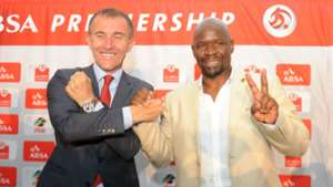 Micho Sredojevic and Steve Komphela - Orlando Pirates v Kaizer Chiefs