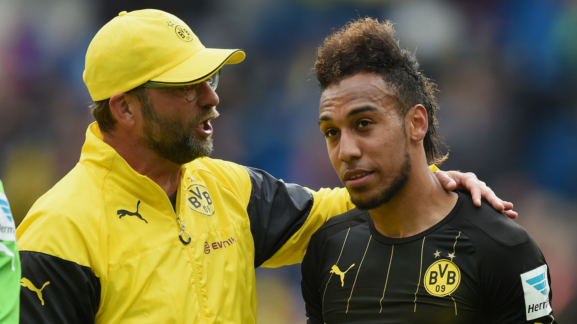 Jurgen Klopp Pierre-Emerick Aubameyang Borussia Dortmund 02052015