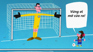 Messi Courtois cartoon HD