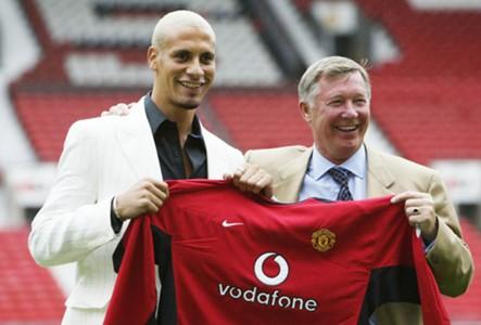 Rio Ferdinand Alex Ferguson Manchester United