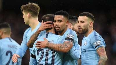 Manchester City celebrate vs Burnley, FA Cup
