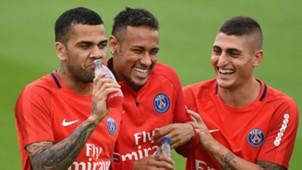 Dani Alves Neymar Marco Verratti PSG