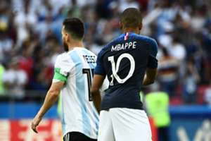 Lionel Messi Kylian Mbappe France Argentina World Cup 06/30/18
