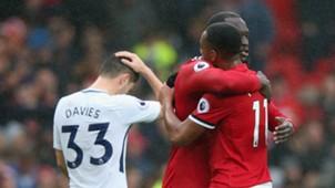 Anthony Martial Romelu Lukaku Manchester United Tottenham