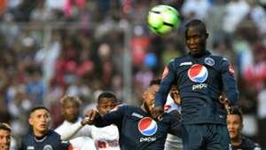 Rubilio Castillo Motagua v Olimpia Honduran Apertura Tournament football final at the Nacional stadium in Tegucigalpa 16122018