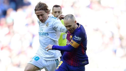 Luka Modric Andres Iniesta Real Madrid Barcelona El Clásico LaLiga 23122017