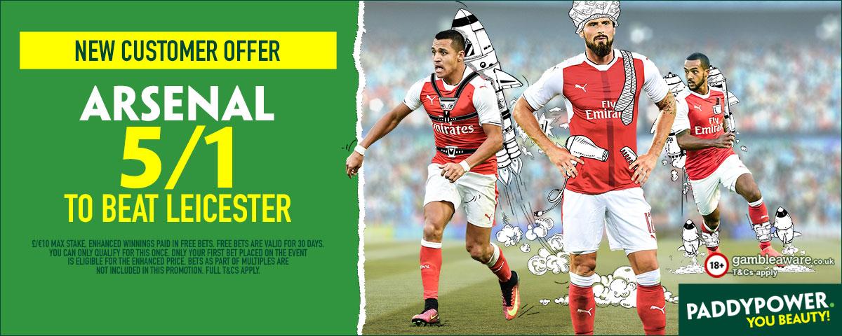 GFX Arsenal Leicester enhanced betting