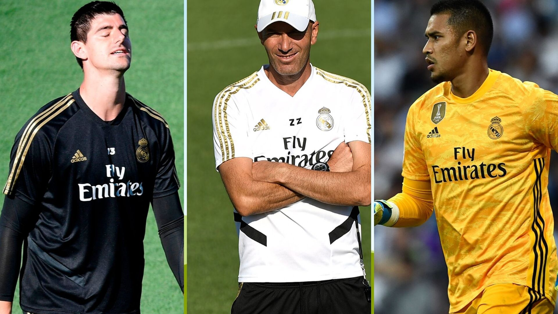 Courtois, Zidane y Areola, Real Madrid