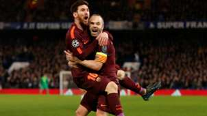 Lionel Messi, Andres Iniesta, Barcelona, Champions League 02202018