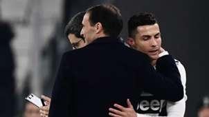 Cristiano Ronaldo Massimiliano Allegri Juventus Turin  15022019