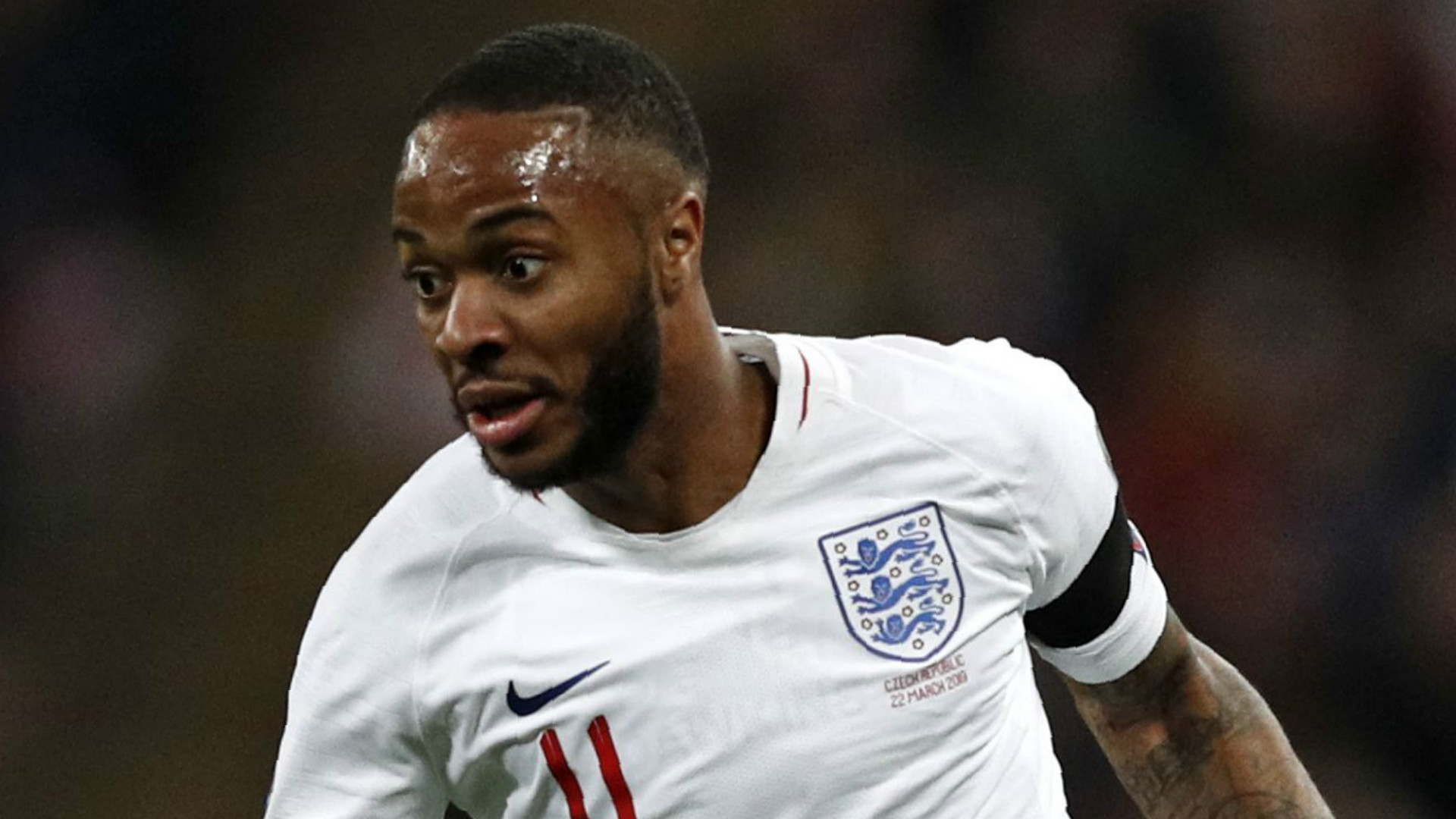 England 5 - 0 Czech Republic: Sterling hits Wembley hat-trick