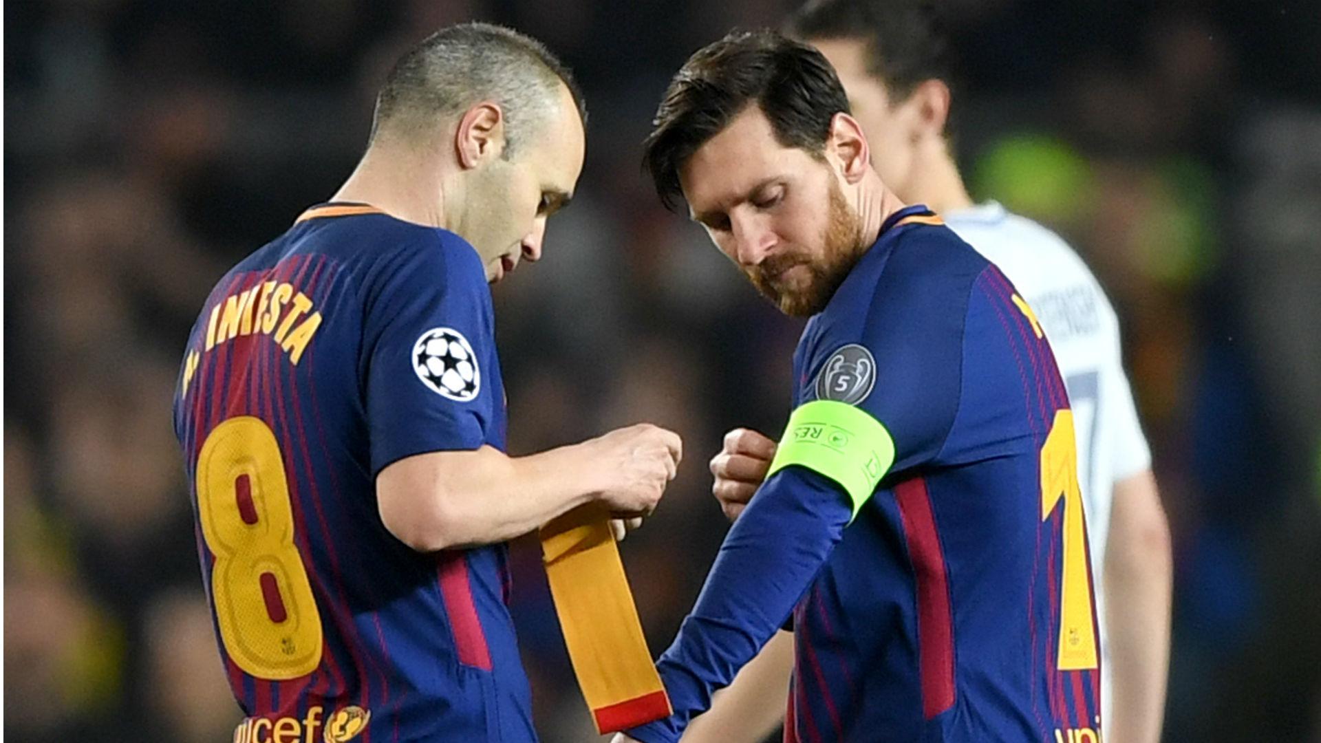 Iniesta Messi Barcelona captain 31 0 2018