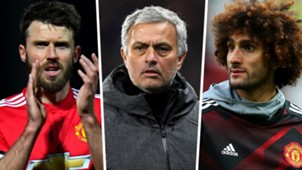 Michael Carrick Jose Mourinho Marouane Fellaini