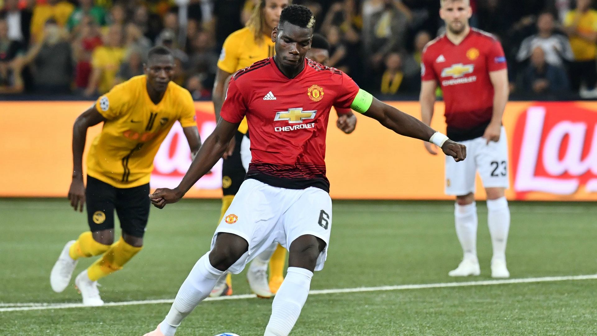 Paul Pogba Young Boys Manchester United UEFA Champions League 09192018