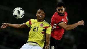 Jose Heriberto Izquierdo Sam Morsy Egypt Colombia international friendly 2018