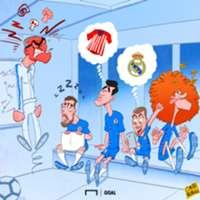 Cartoon: Sarri's unmotivated Chelsea squad