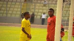 Kotoko goalkeeper felix annan and emmanuel gyamfi