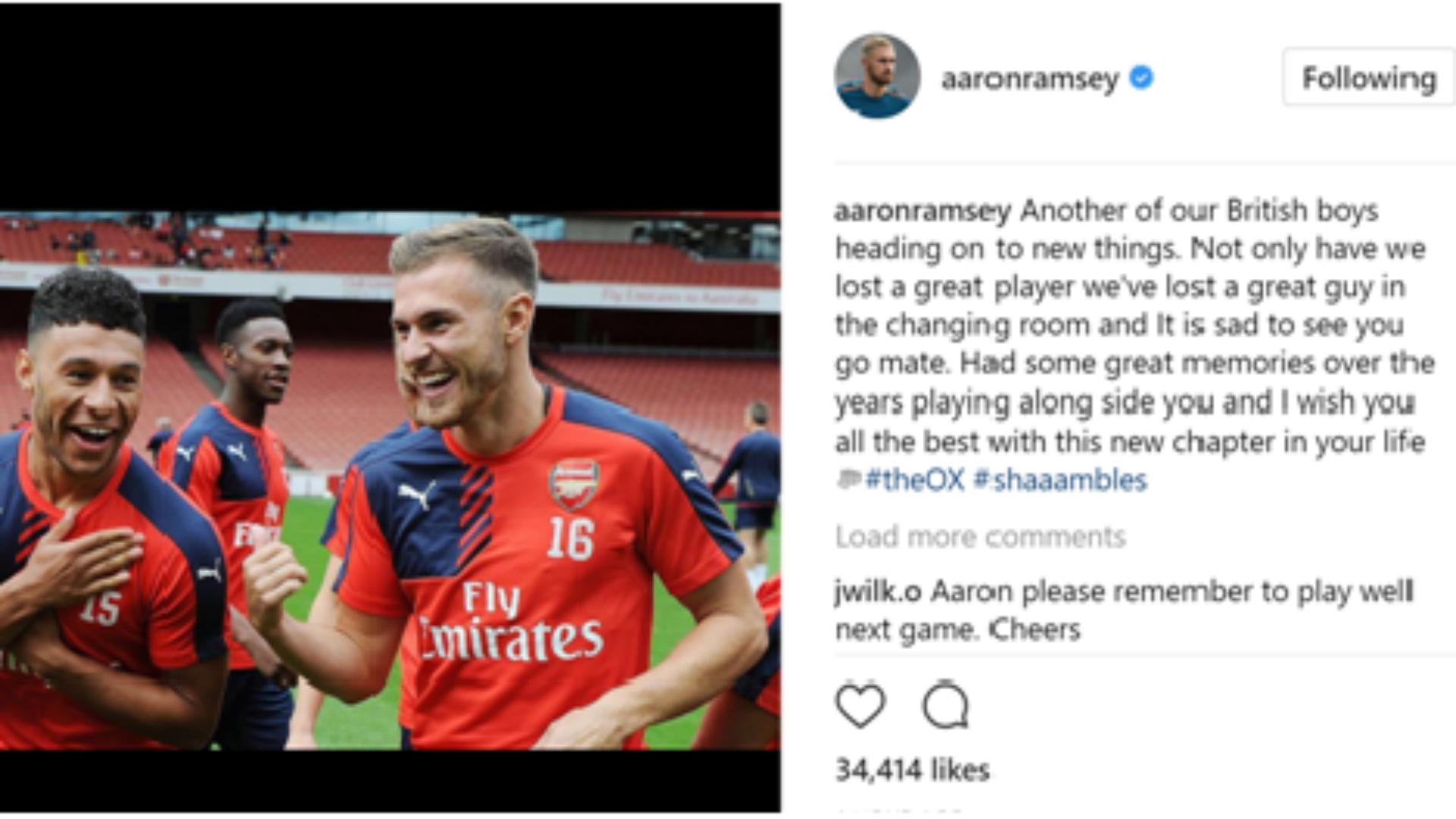 Aaron Ramsey Arsenal shambles
