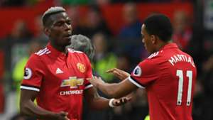 Paul Pogba Anthony Martial Manchester United 2017-18