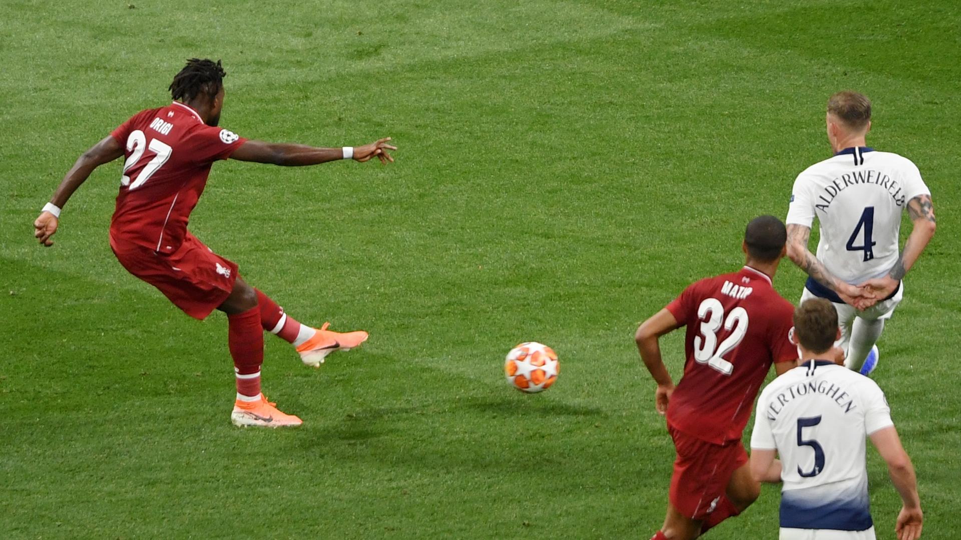 Divock Origi goal, Tottenham vs Liverpool