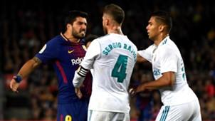 Luis Suarez Sergio Ramos Casemiro Barcelona Real Madrid El Clasico LaLiga 06052018
