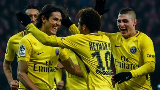 Neymar Edinson Cavani Lille PSG Ligue 1 03022018