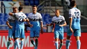 Lazio celebrating Lazio Fiorentina Serie A