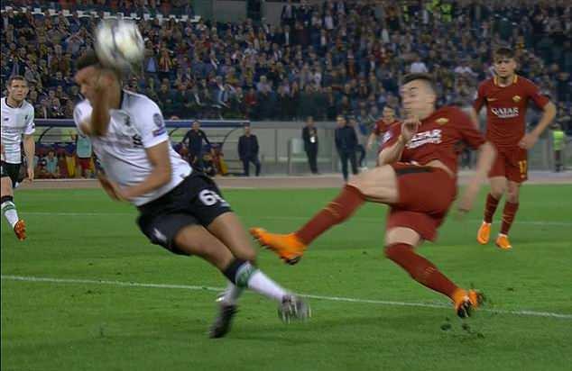 Mano de Arnold Roma - Liverpool